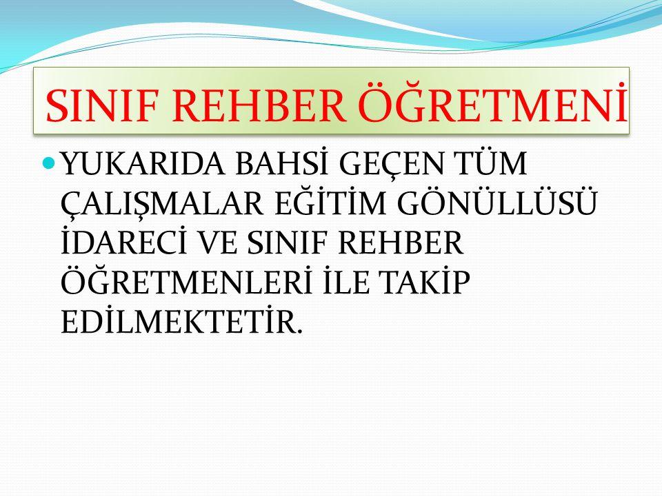 SINIF REHBER ÖĞRETMENİ