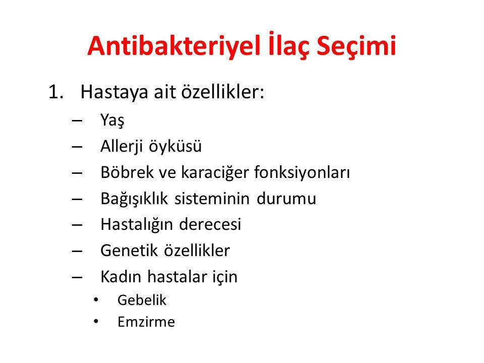 Antibakteriyel İlaç Seçimi