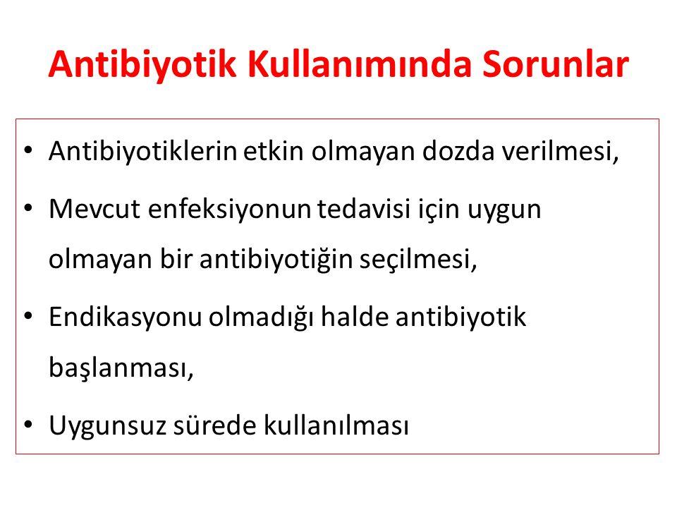 Antibiyotik Kullanımında Sorunlar