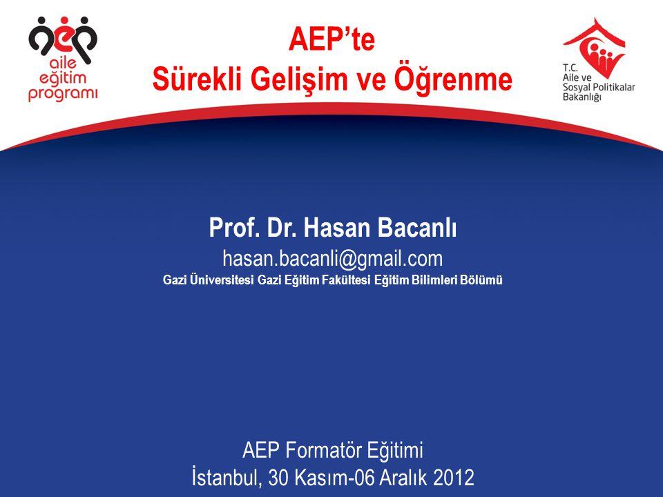 AEP'te Sürekli Gelişim ve Öğrenme