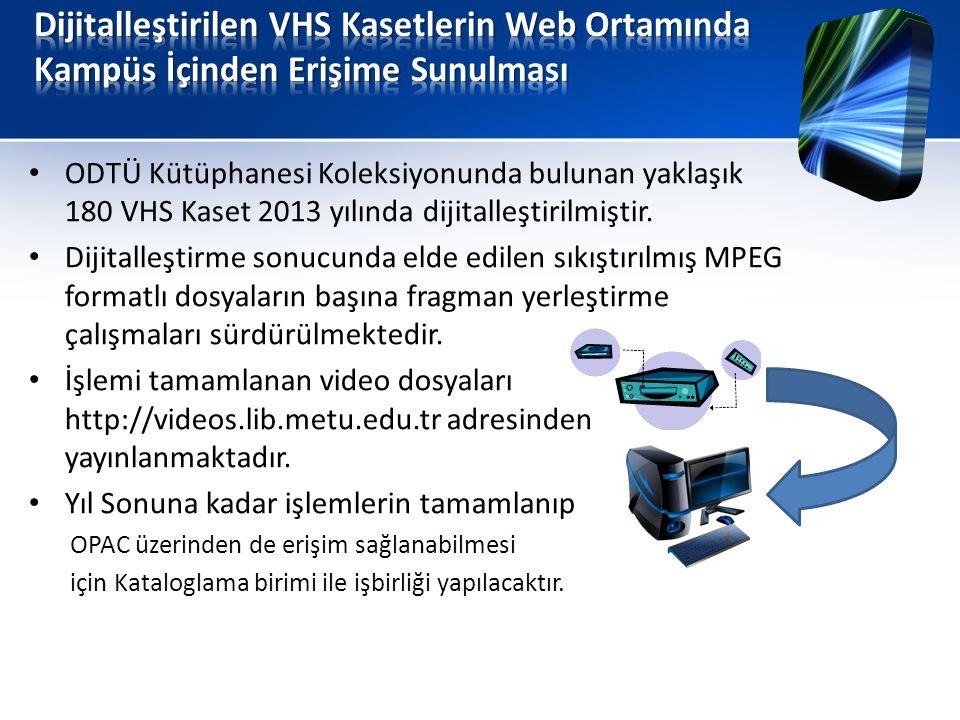 Dijitalleştirilen VHS Kasetlerin Web Ortamında Kampüs İçinden Erişime Sunulması
