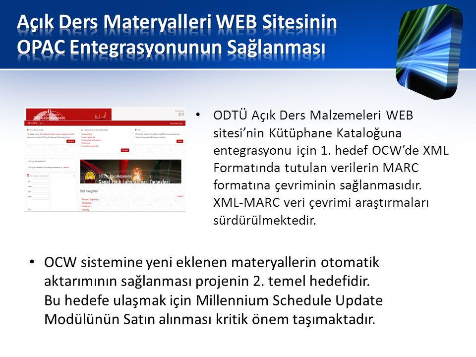 Açık Ders Materyalleri WEB Sitesinin OPAC Entegrasyonunun Sağlanması