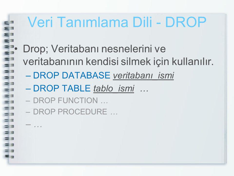 Veri Tanımlama Dili - DROP