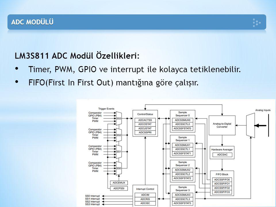LM3S811 ADC Modül Özellikleri: