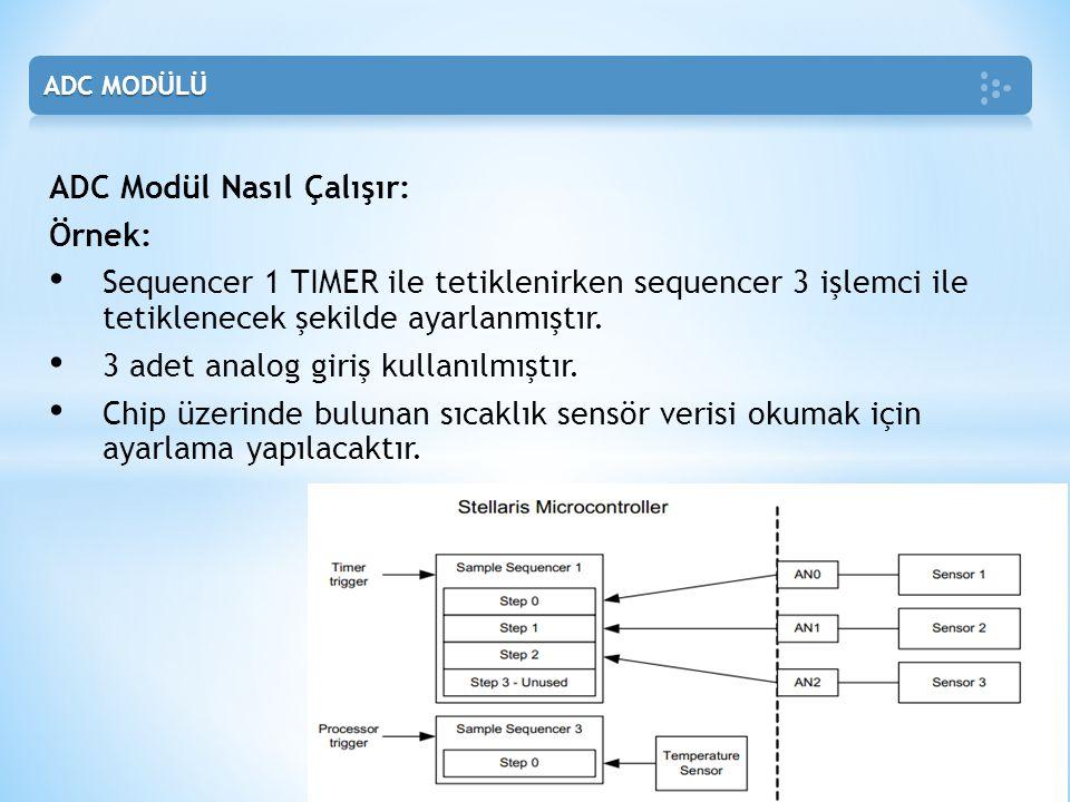 ADC Modül Nasıl Çalışır: Örnek: