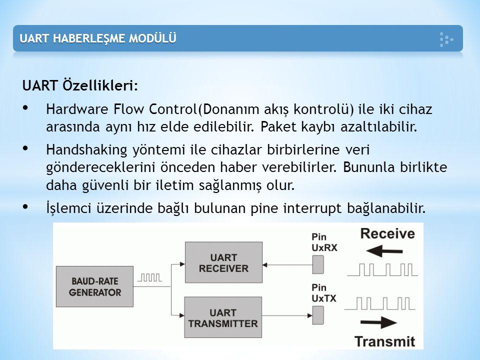 İşlemci üzerinde bağlı bulunan pine interrupt bağlanabilir.