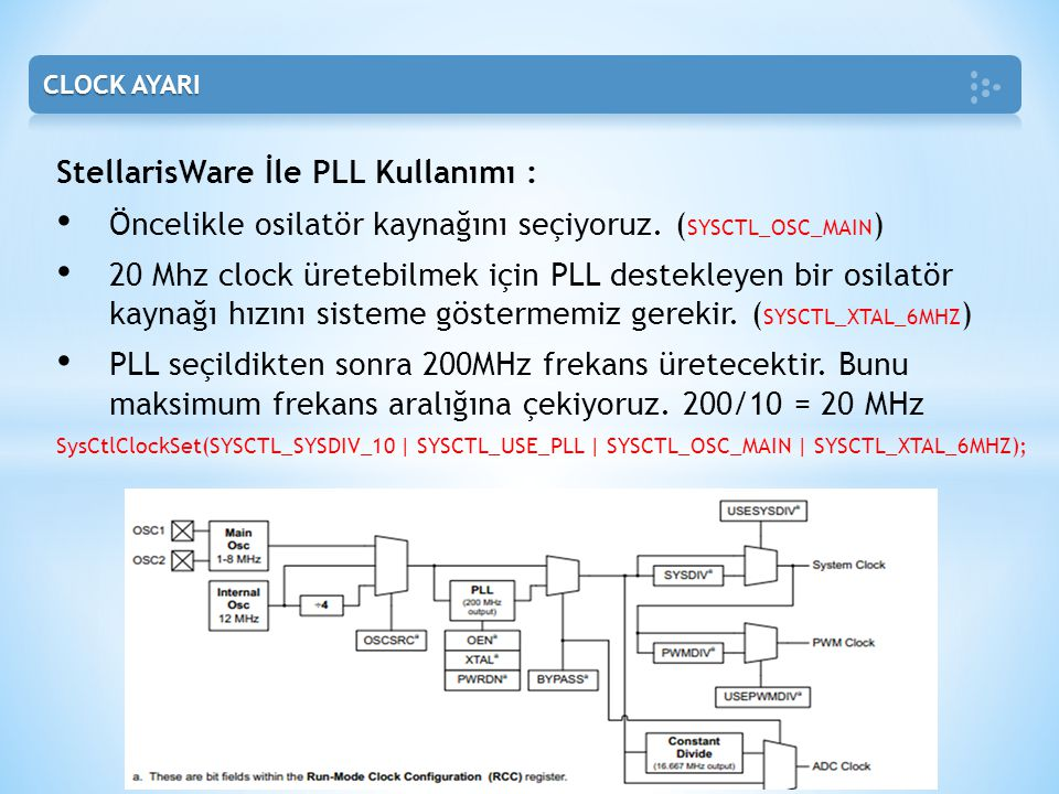 StellarisWare İle PLL Kullanımı :