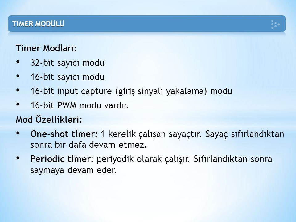 16-bit input capture (giriş sinyali yakalama) modu