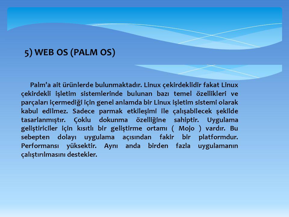 5) WEB OS (PALM OS)