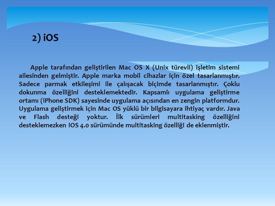 2) iOS