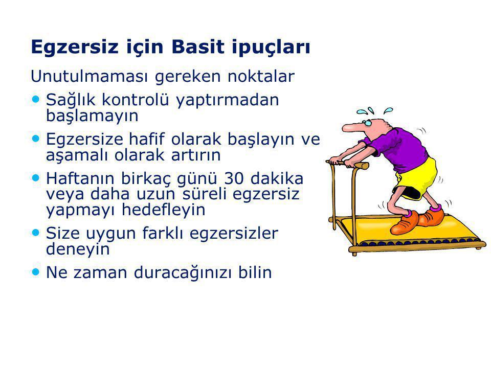 Egzersiz için Basit ipuçları