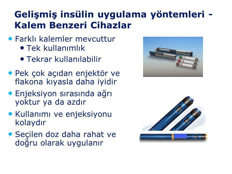Gelişmiş insülin uygulama yöntemleri -Kalem Benzeri Cihazlar