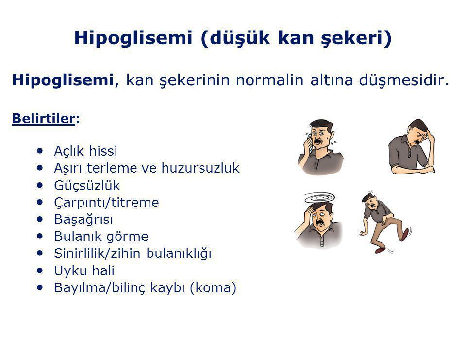 Hipoglisemi (düşük kan şekeri)