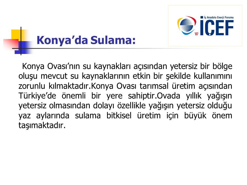 Konya'da Sulama: