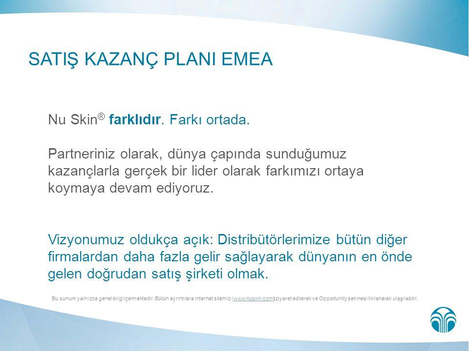 SATIŞ KAZANÇ PLANI EMEA