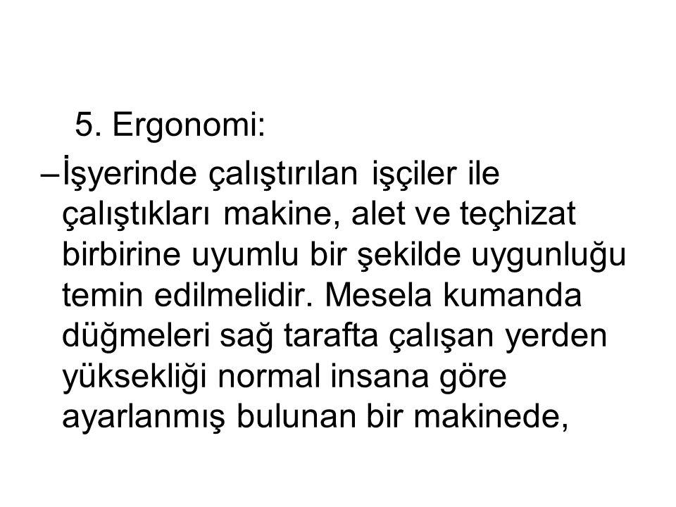 5. Ergonomi: