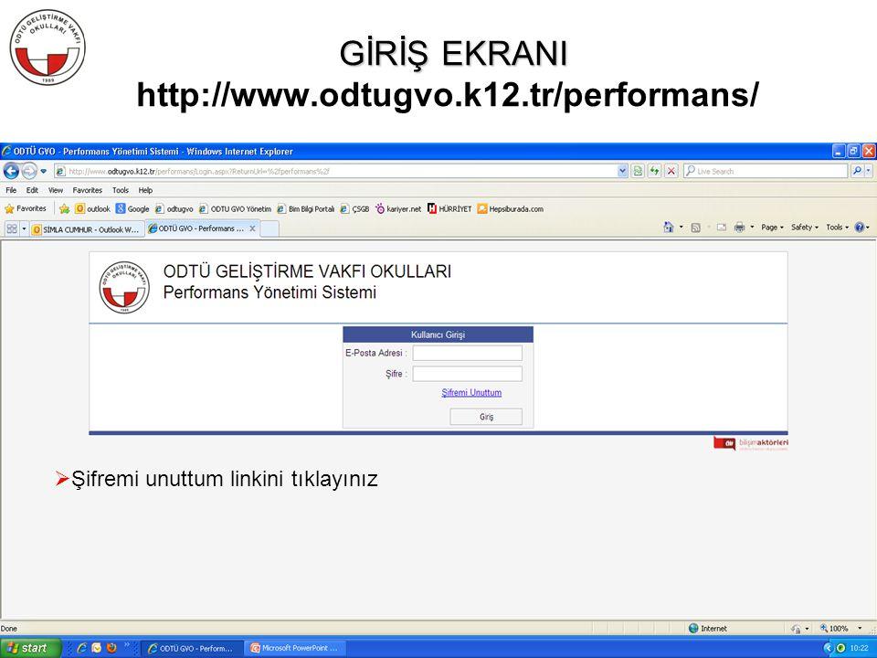 GİRİŞ EKRANI http://www.odtugvo.k12.tr/performans/