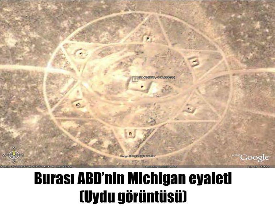 Burası ABD'nin Michigan eyaleti (Uydu görüntüsü)