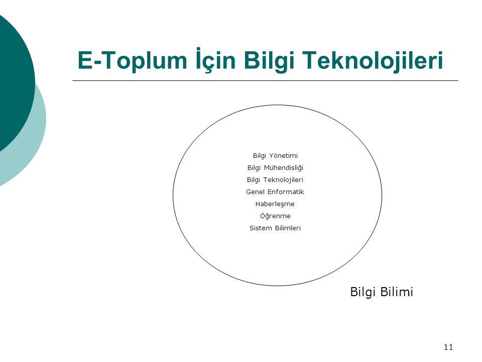 E-Toplum İçin Bilgi Teknolojileri