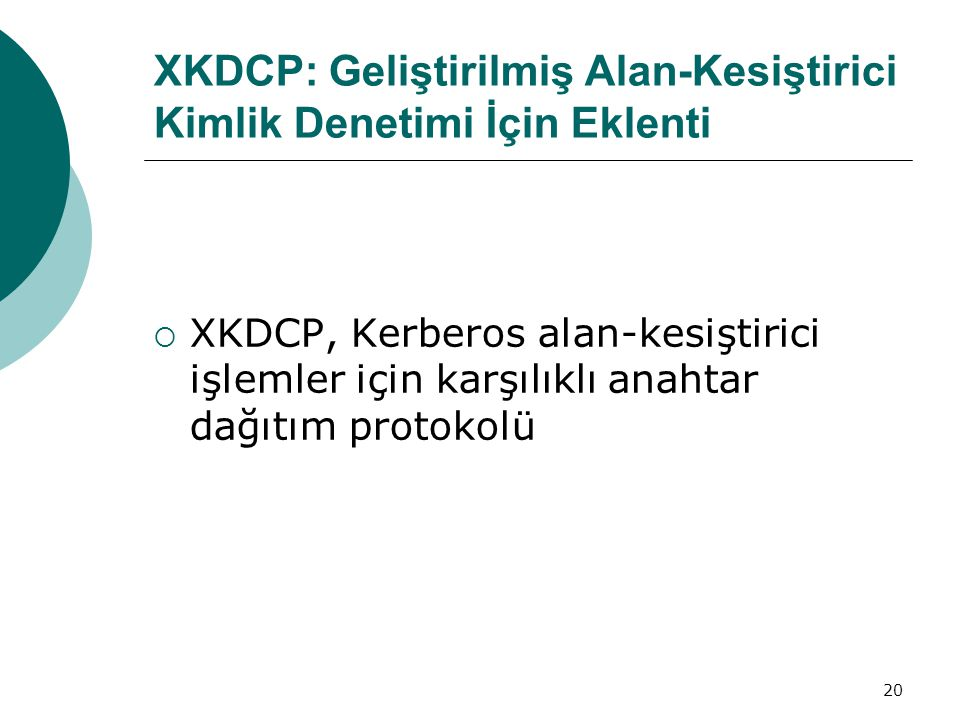 XKDCP: Geliştirilmiş Alan-Kesiştirici Kimlik Denetimi İçin Eklenti