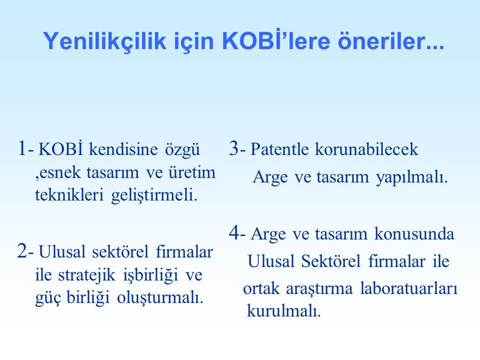 Yenilikçilik için KOBİ'lere öneriler...