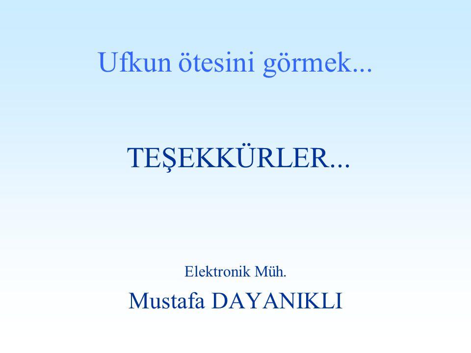 TEŞEKKÜRLER... Ufkun ötesini görmek... Mustafa DAYANIKLI