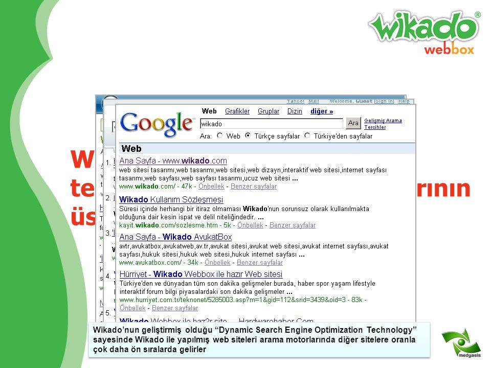 Wikado'ya özel DSEOT® teknolojisi ile arama motorlarının üst sıralarına yükselin