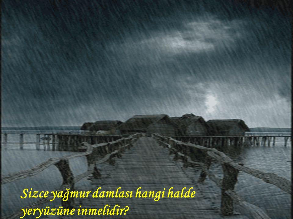 Sizce yağmur damlası hangi halde yeryüzüne inmelidir
