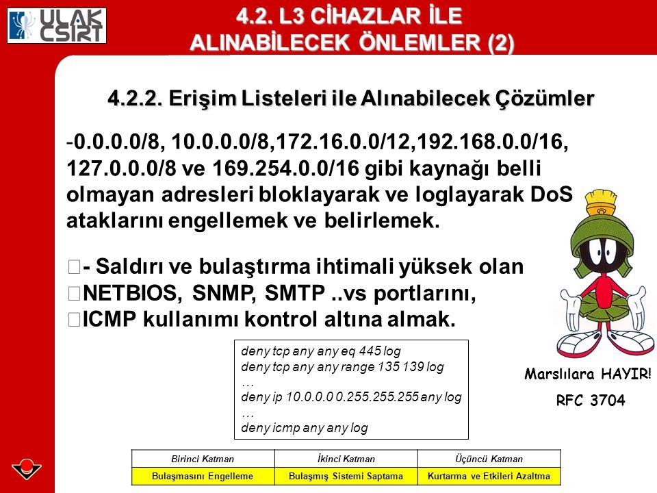 4.2. L3 CİHAZLAR İLE ALINABİLECEK ÖNLEMLER (2)