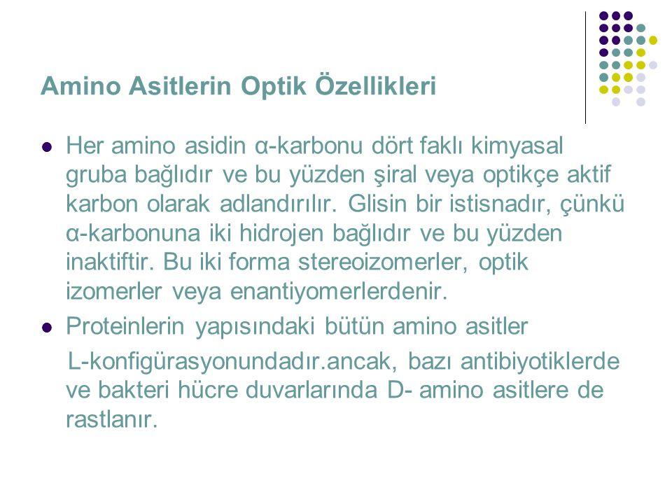 Amino Asitlerin Optik Özellikleri