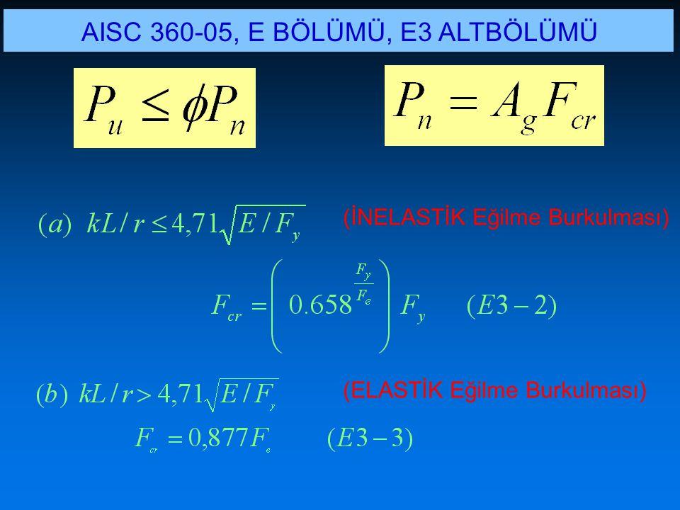 AISC 360-05, E BÖLÜMÜ, E3 ALTBÖLÜMÜ