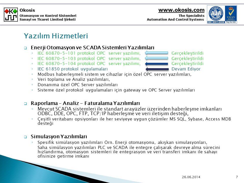 Yazılım Hizmetleri Enerji Otomasyon ve SCADA Sistemleri Yazılımları