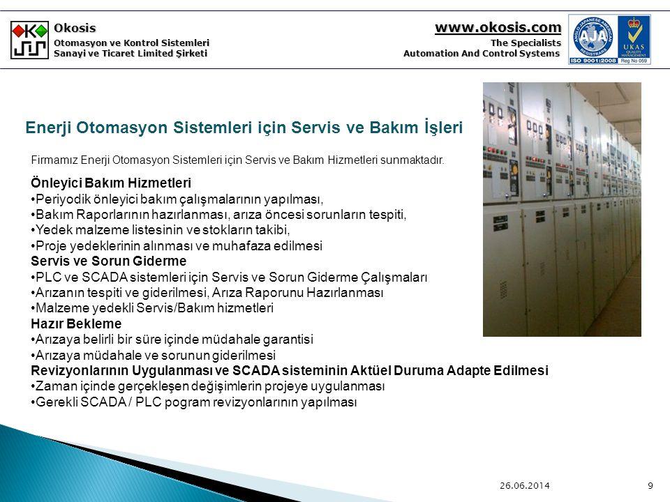 Enerji Otomasyon Sistemleri için Servis ve Bakım İşleri