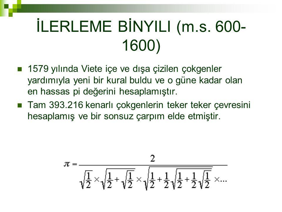 İLERLEME BİNYILI (m.s. 600-1600)