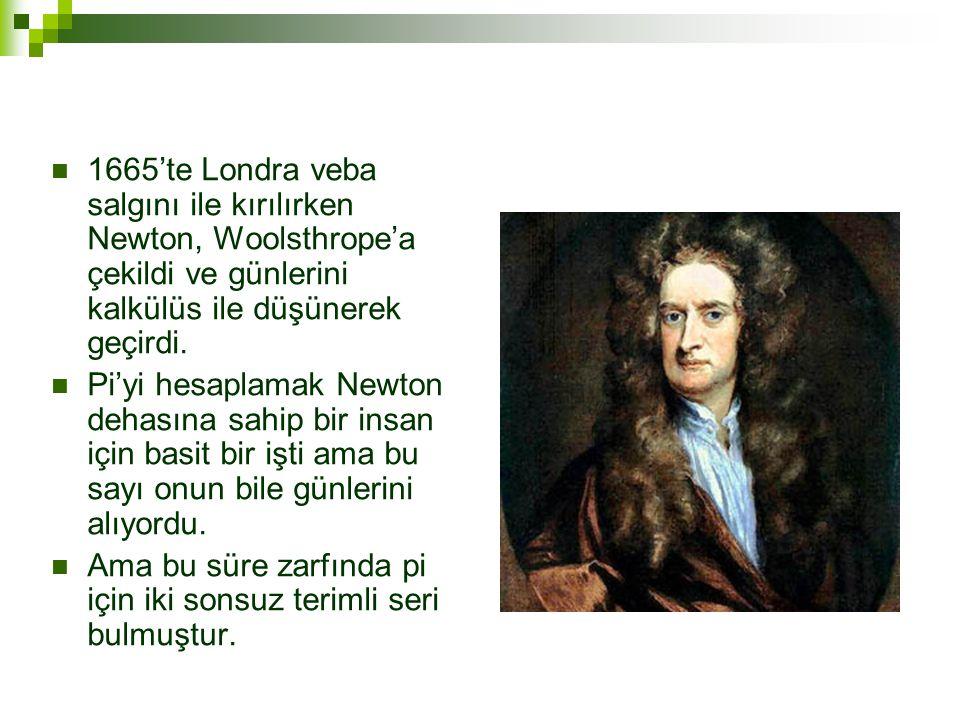 1665'te Londra veba salgını ile kırılırken Newton, Woolsthrope'a çekildi ve günlerini kalkülüs ile düşünerek geçirdi.
