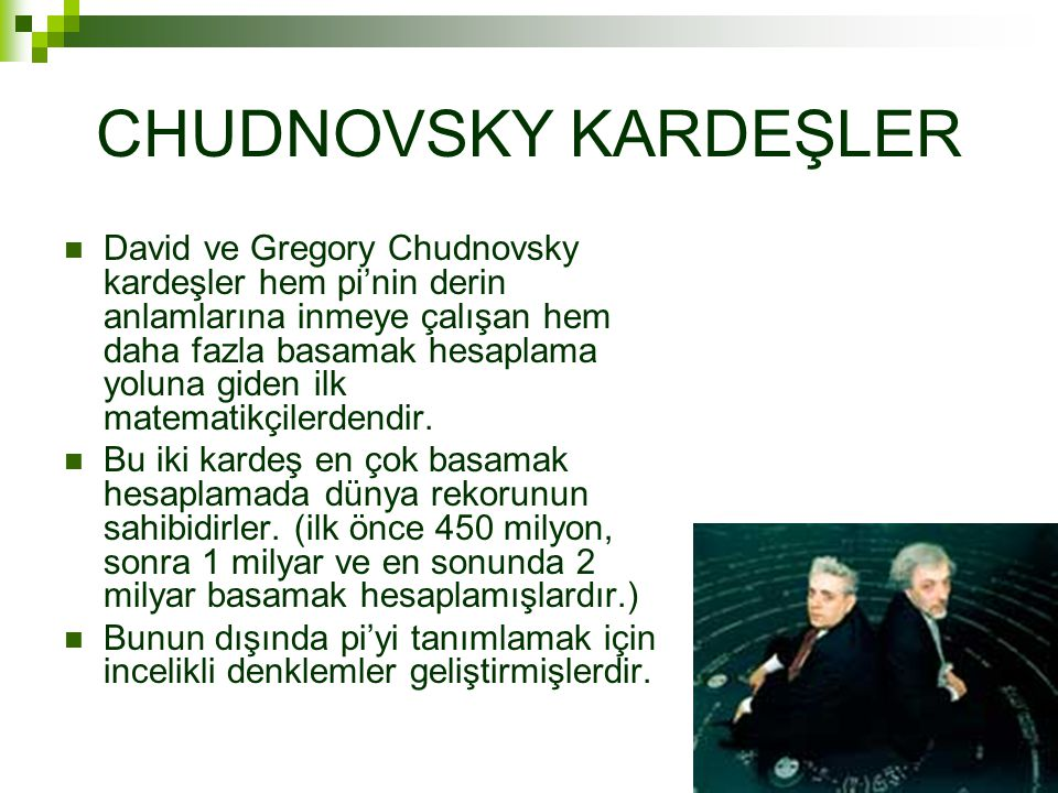 CHUDNOVSKY KARDEŞLER