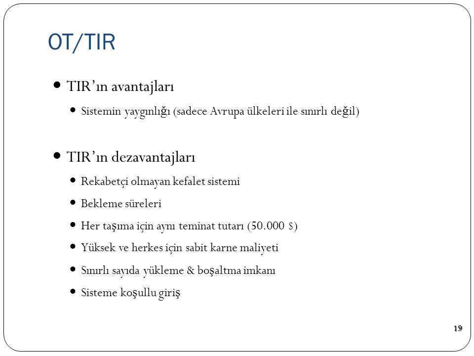 OT/TIR TIR'ın avantajları TIR'ın dezavantajları