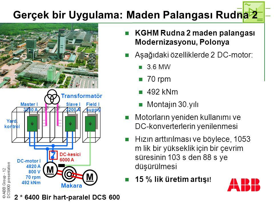 Gerçek bir Uygulama: Maden Palangası Rudna 2