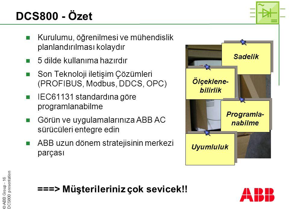 DCS800 - Özet ===> Müşterileriniz çok sevicek!!