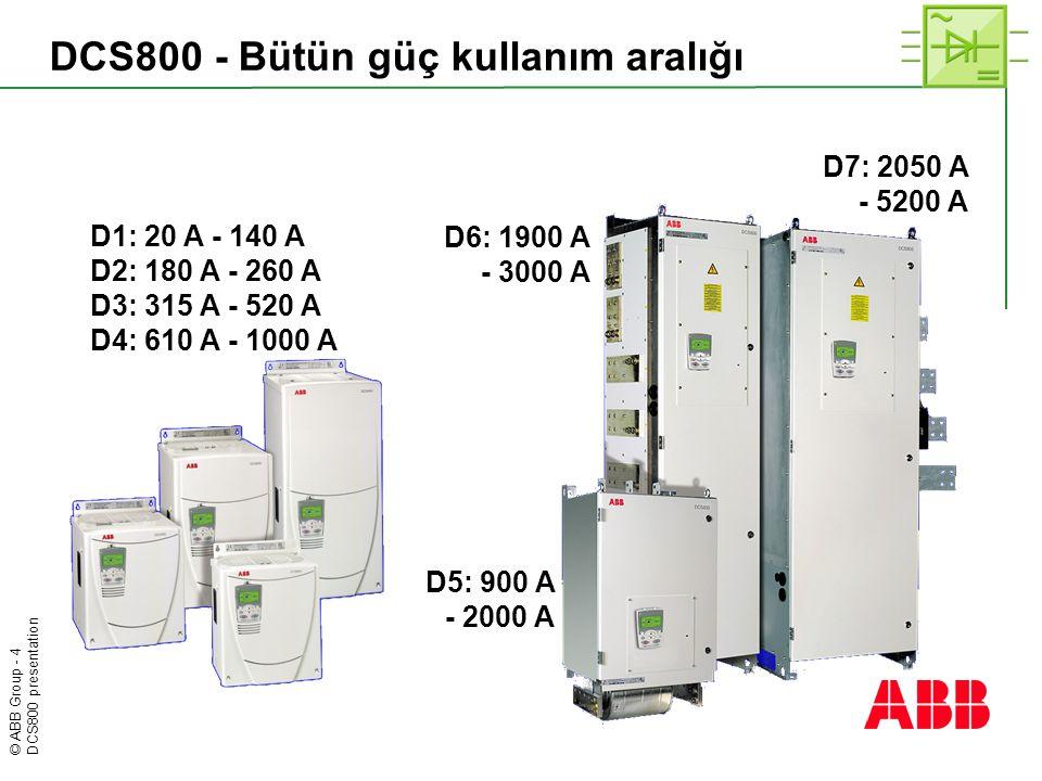 DCS800 - Bütün güç kullanım aralığı