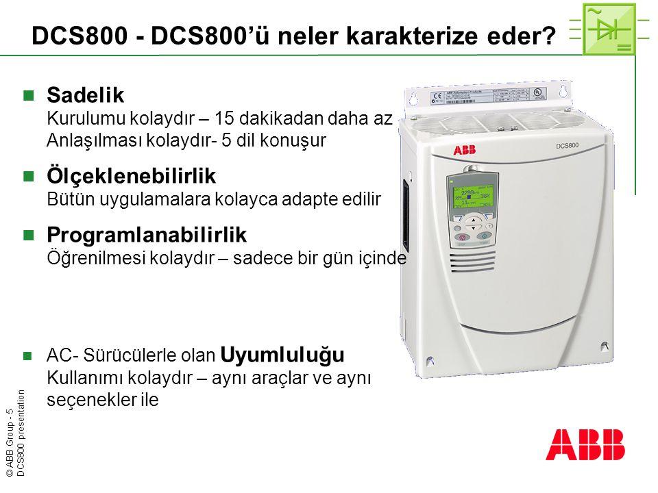 DCS800 - DCS800'ü neler karakterize eder