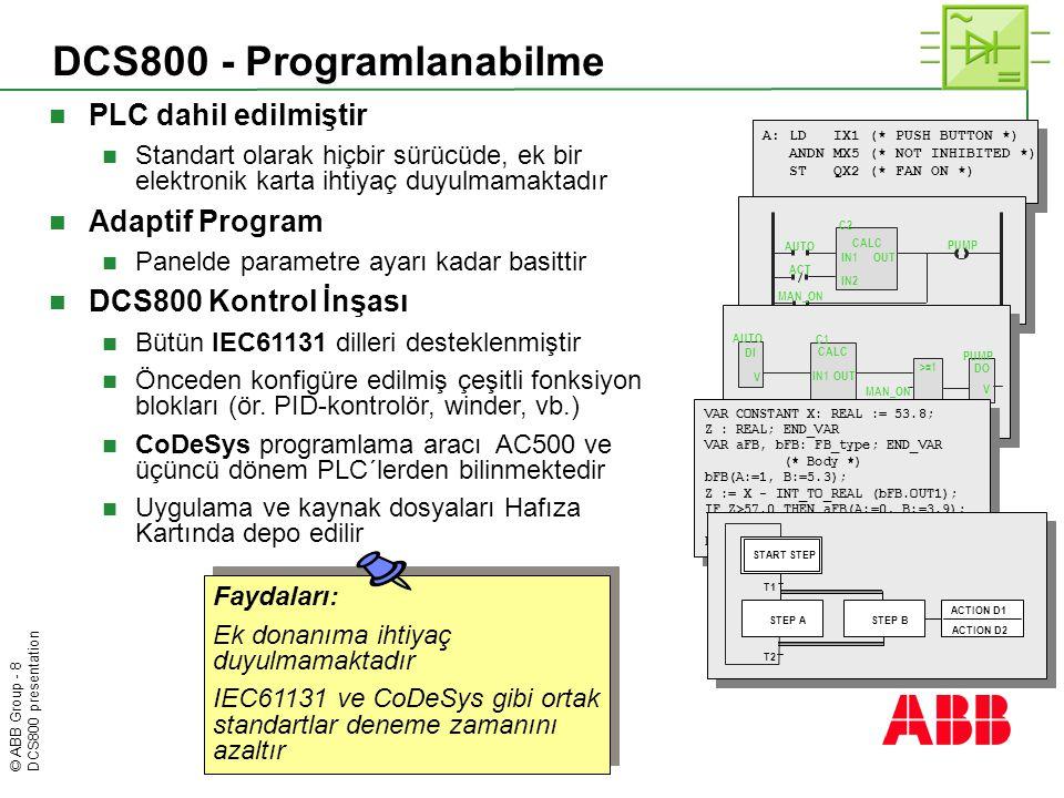 DCS800 - Programlanabilme