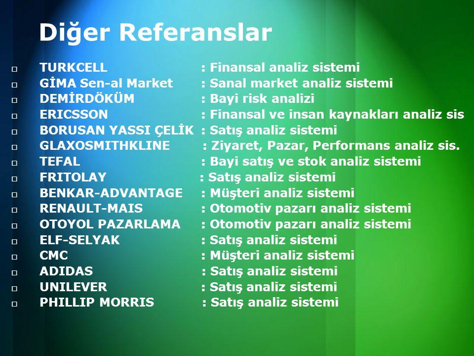 Diğer Referanslar TURKCELL : Finansal analiz sistemi