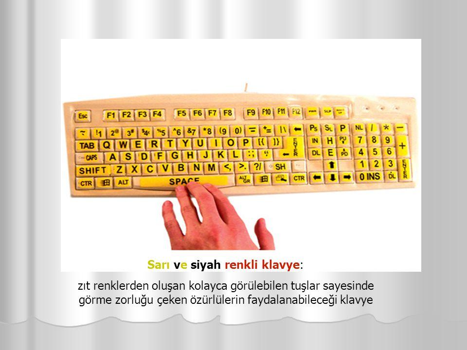 Sarı ve siyah renkli klavye: