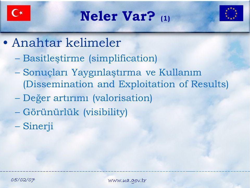 Neler Var (1) Anahtar kelimeler Basitleştirme (simplification)