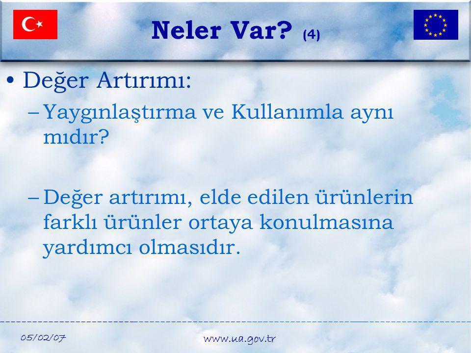 Neler Var (4) Değer Artırımı: