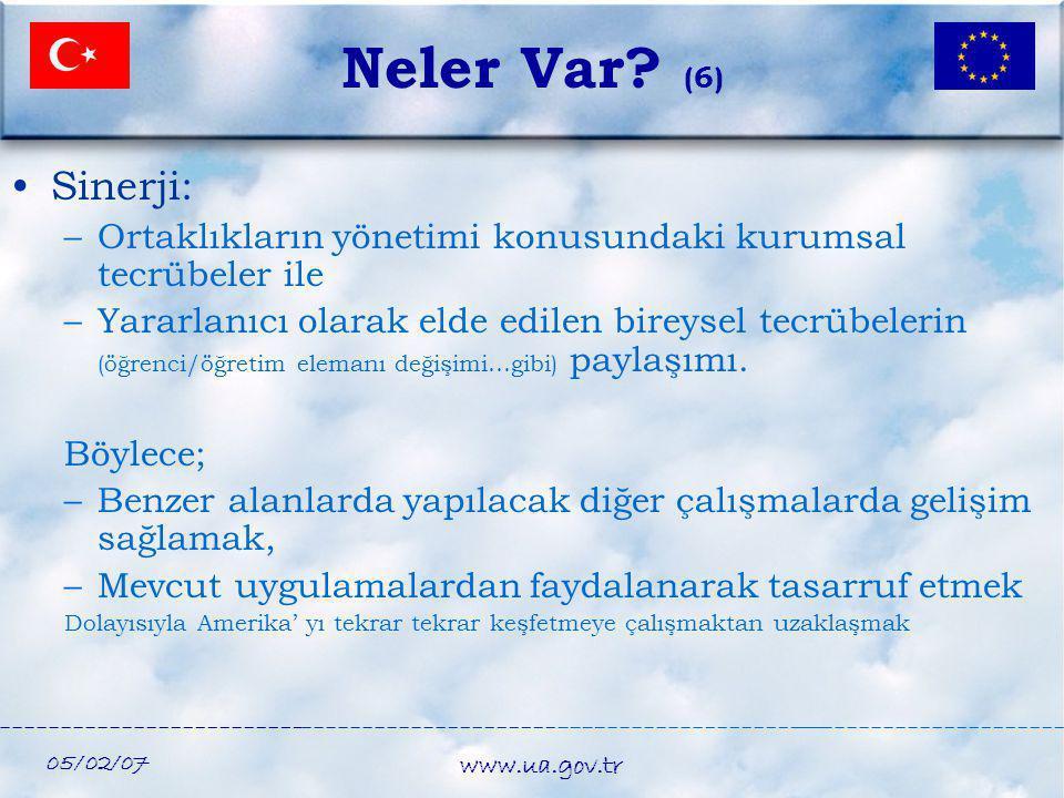 Neler Var (6) Sinerji: Ortaklıkların yönetimi konusundaki kurumsal tecrübeler ile.