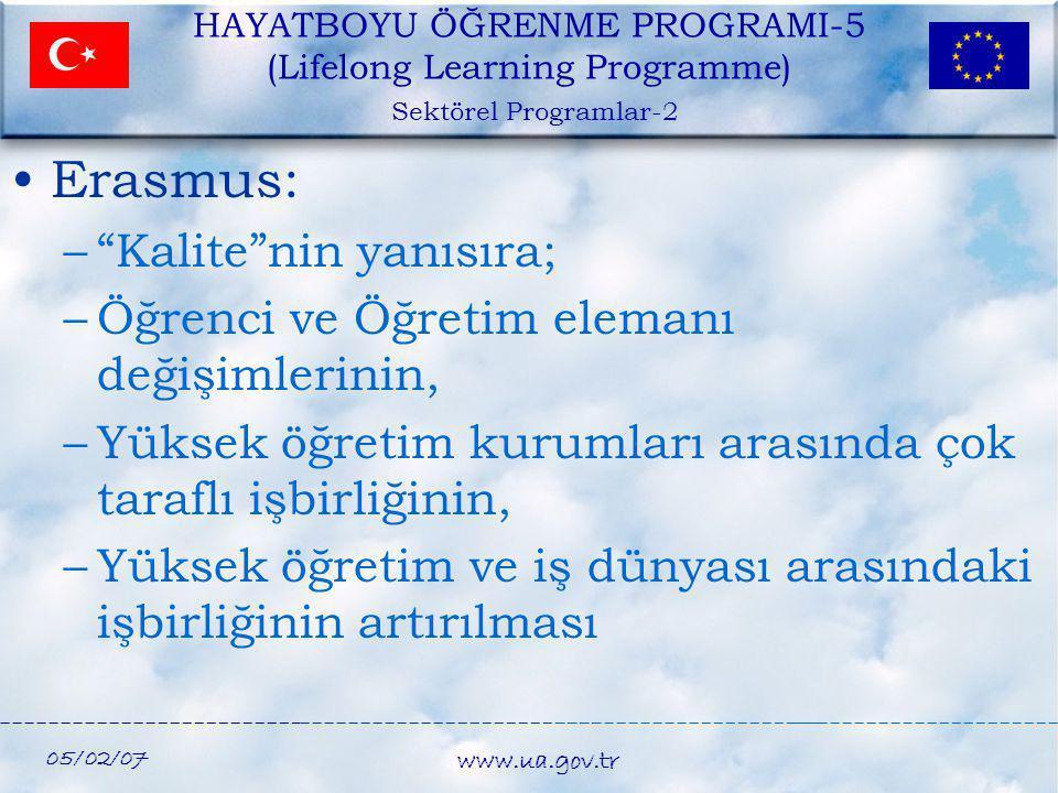 Erasmus: Kalite nin yanısıra;