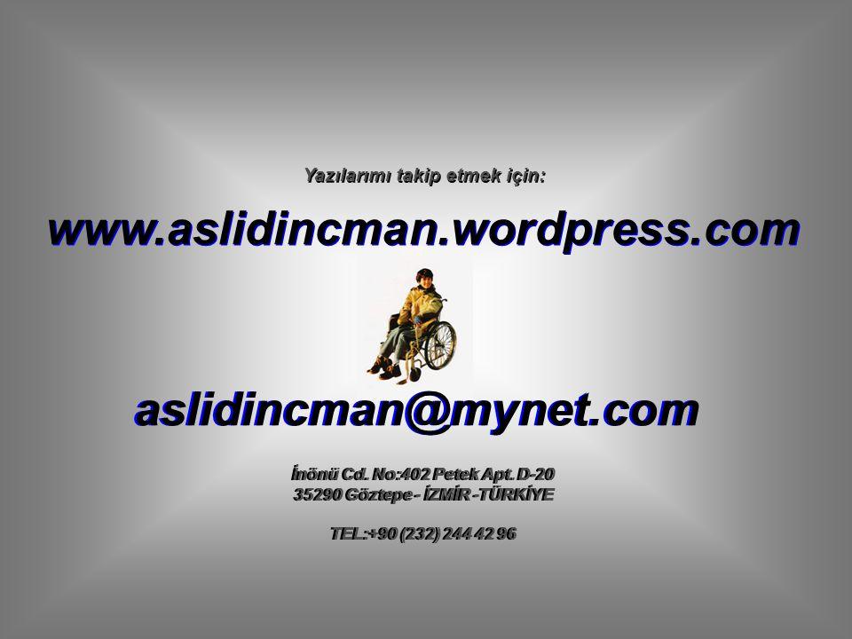 www.aslidincman.wordpress.com aslidincman@mynet.com