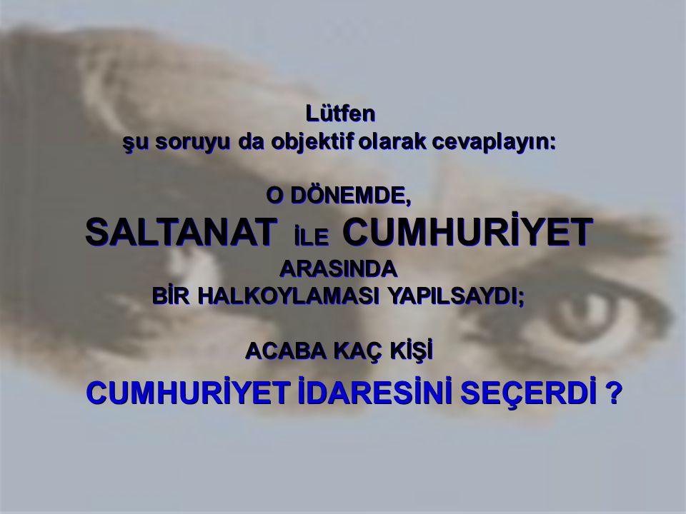 SALTANAT İLE CUMHURİYET